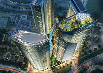 Aykon City ... six luxury towers.