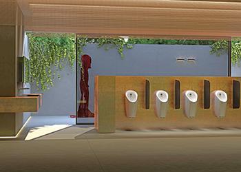 The Preda urinal ... innovative features.