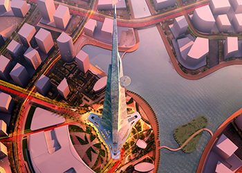 Jeddah Tower ... has now reached its 37th floor.