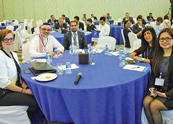 FROM LEFT: De Herdt and Khalaf, with the Reynaers team at the conference.