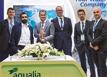The KSA Aqualia team after receiving the SWEF award as Best Water Performer in the kingdom.