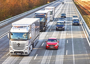 Platooning also allows much more efficient use of road space: