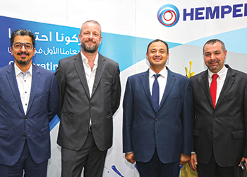 Officials at the launch of Hempel's new brand identity.
