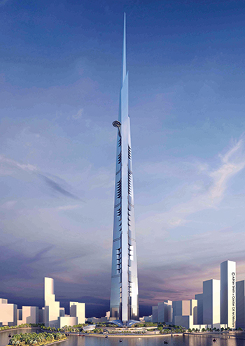 Jeddah Tower ... kilometre high.