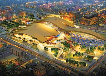 Riyadh Metro's Western Station ... award-winning design.