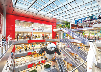 The mall will be home to Macy's first international store.
