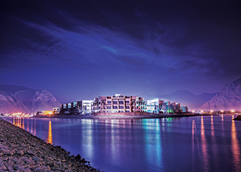 Khasab Hotel ... another striking project in Al Ansari's portfolio.