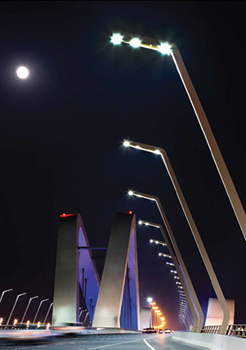 Sheikh Zayed Bridge ... LED upgrade.