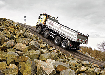 Volvo Trucks ... designed with the toughest conditions and roads in mind.