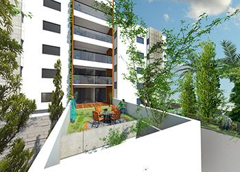 Vertical Villas ... aims to bring the feel of villas to apartments.