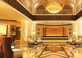 The lobby at Conrad Makkah ... grand.