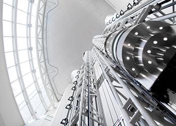 Kone's scenic elevator in Al Fattan Marina Tower at Dubai Marina.