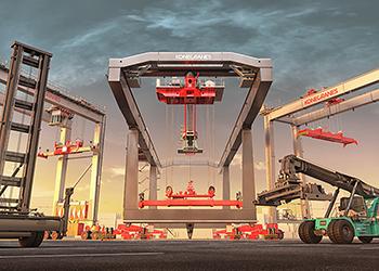 The Boxporter RMG crane ... intermodal offering.