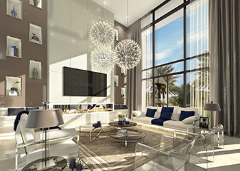 Artist's impression of the interiors of Jawaher Saadiyat.