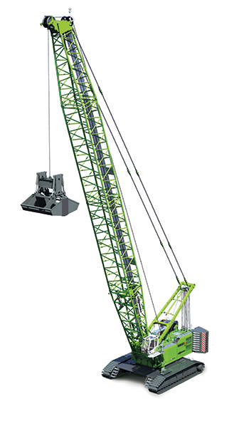 Sennebogen's 6300 ... largest duty cycle crawler.
