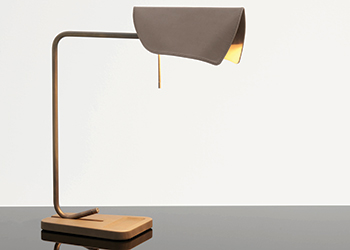 A Velum table lamp.