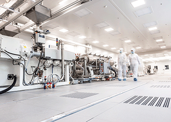 Purad production in the new facility is ISO Class Five-compliant from start to finish.