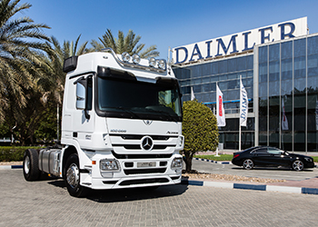 The 100,000th Actros Truck ... handed over to Al Khaldi from Dammam.