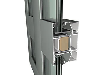 The CS 77-FP EI30 system ... 3D detail.