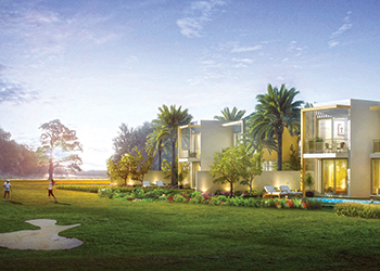 The villas at Emaar South.