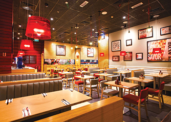 Heradesign ... selected for the Pizza Hut outlet at Al Ghurair Centre.