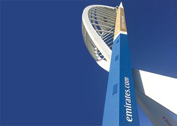 Monodex Metallic ... applied to the Emirates Spinnaker Tower.