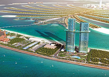 Palm 360, a twin-tower hotel and residential project on The Palm Jumeirah, is scheduled for delivery in 2020.