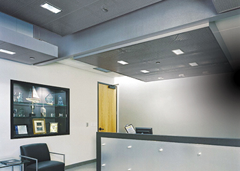Metal ceilings ... offered in a wide range of standard as well as custom patterns.