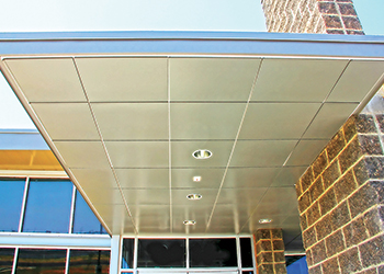 The metal ceilings are manufactured to ASTM standards.