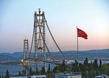 Osman Gazi Bridge ... Eliminator will protect the structure for decades to come.