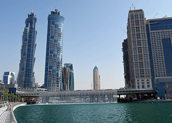 Dubai Water Canal ... new destination with a walkway, jogging and cycling tracks.