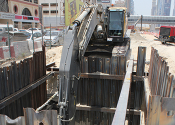 Detech used Volvo excavators on the project.