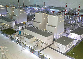 A model of the Hassyan coal plant.
