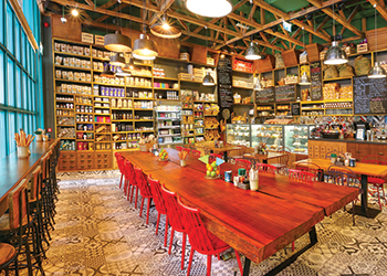 The Mercato Restaurant in Dubai.