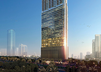 Paramount Tower Hotel and Residences in Dubai.