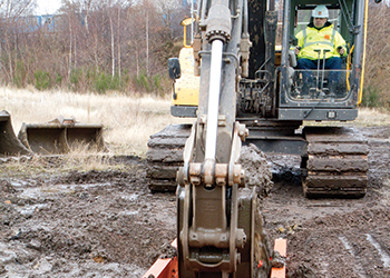 The Backhoe Trench Box can achieve a large range of tasks.