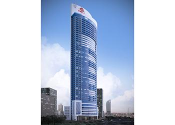 The Al-Tijaria Tower ... 50 storeys tall.