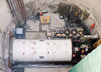 The main trunk sewer will be excavated using two tunnel-boring machines designed specifically for the geological features encountered in Doha.