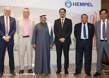 Hempel's regional management team and board members ... at the celebrations.