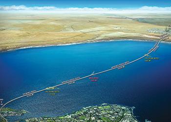 The Sheikh Jaber Al Ahmad Al Sabah Causeway ... $2.6 billion project.