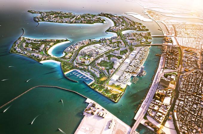 Deira Islands ... to host the 22-tower Deira Islands Boulevard.
