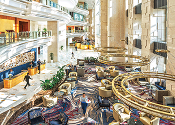 Shangri-La Hotel, Dubai's Lobby area ... a $19-milion renovation project.