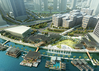 Marasi Business Bay ... a purpose-built yachting destination with floating restaurants.