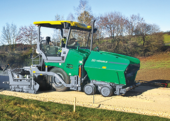 The Super 1603-3 ... an all-rounder wheeled paver.