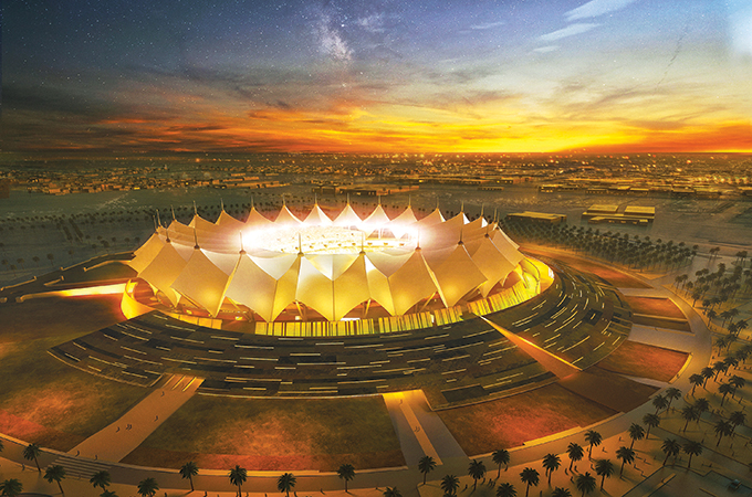 King Fahd stadium ... major refurbishment on way.