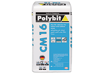 Polybit CM16  ... for wet areas and swimming pools.