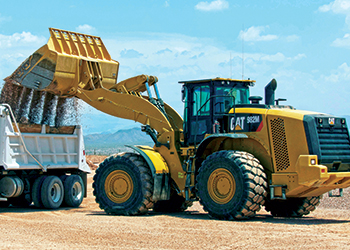 Updated ... the 982M wheel loader loading a truck with gravel.