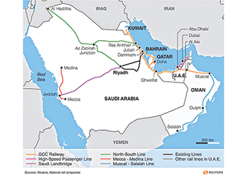 In progress ... the GCC railway network.