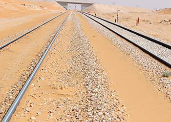 Polymers can keep high-speed railway tracks in the region protected from sand ingress.
