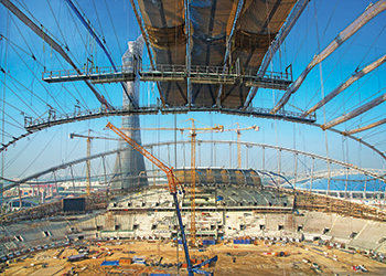 Khalifa International Stadium ... work in progress.